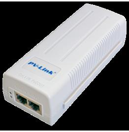 PV-POE01GB - инжектор PoE с базовой скоростью передачи данных 1000 Мбит/с, ver. 230