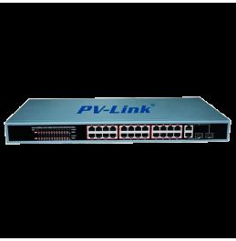 POE4246 - 28 портовый коммутатор с 24 портами PoE 10/100 Мбит/с, 2 комбо-портами 100/1000 Мбит/с, ver. 4246