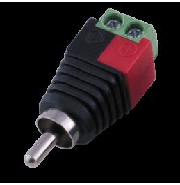 PV-T2RCA - коннектор для подключения кабеля к RCA разъему устройства, ver. 2006